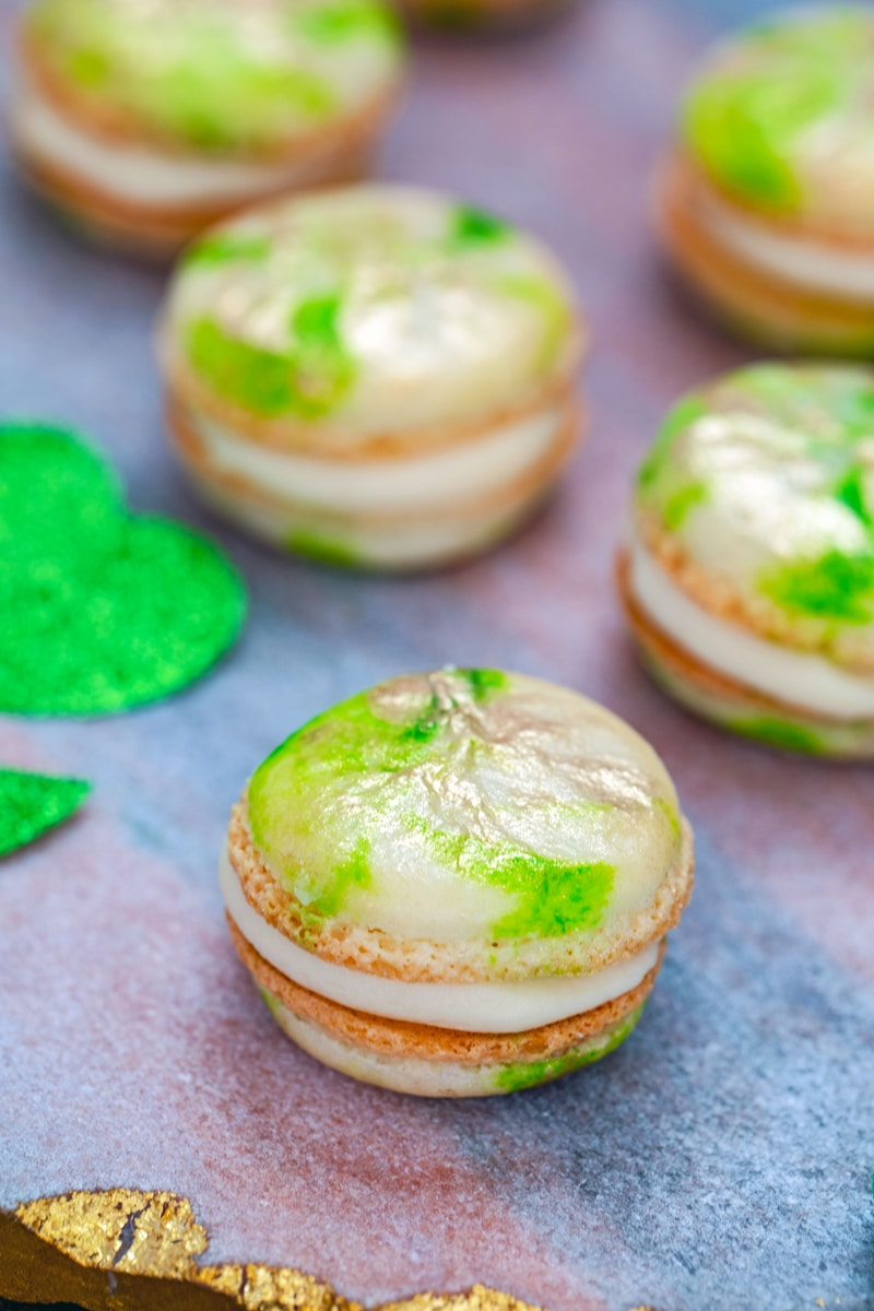 Mint Macarons With Baileys Buttercream Recipe We Are Not Martha