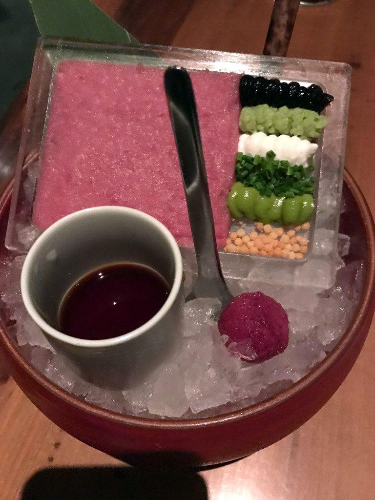 San Francisco and Wine Country Trip -- Morimoto Napa Omakase Tuna Tartare | wearenotmartha.com