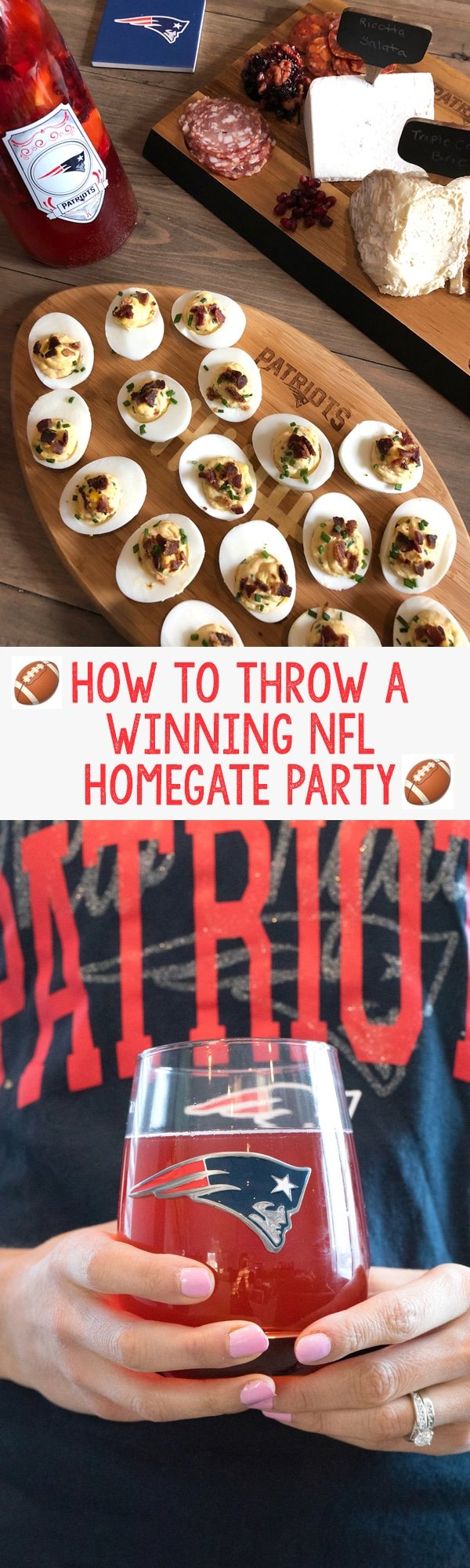 How to throw a winning NFL Homegate Party -- this one features the New England Patriots | wearenotmartha.com