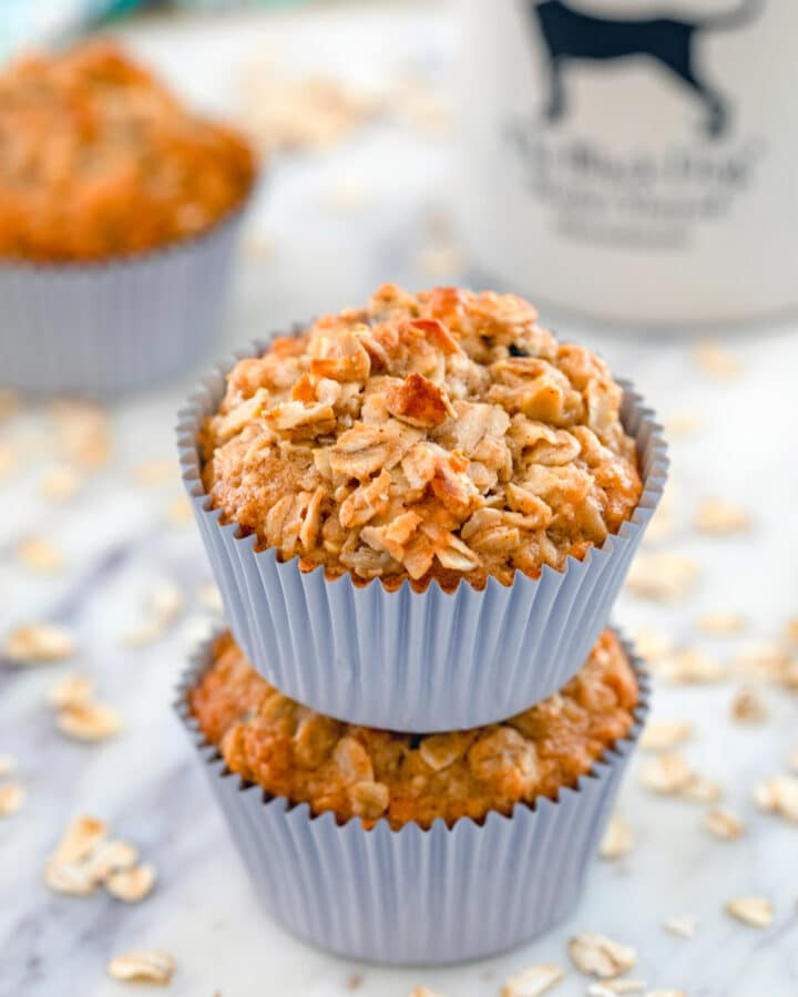 Are they cupcakes or muffins? These Oatmeal Raisin Cookie Muffins aren't topped with frosting, so I'm calling them muffins and giving you full permission to eat them for breakfast!