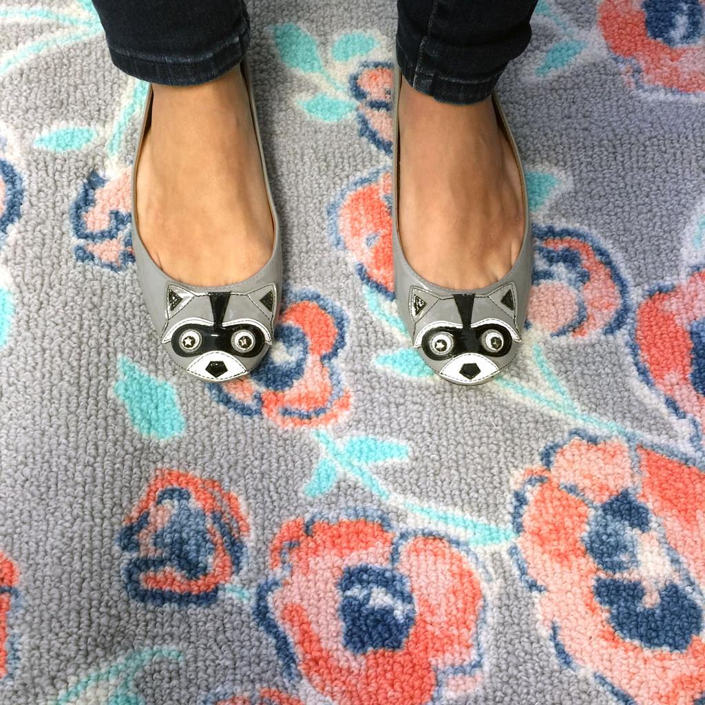 Target Rug and Racoon Shoes | wearenotmartha.com