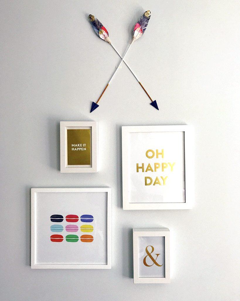 Motivational Office Wall Decor | wearenotmartha.com