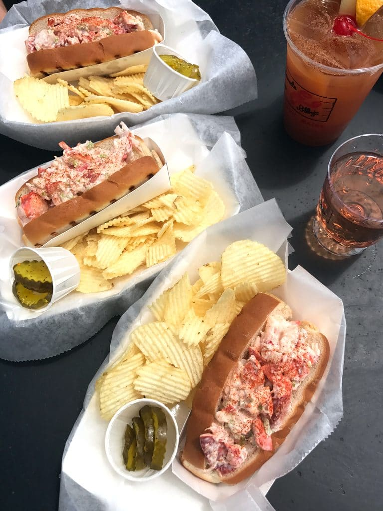 Lobster Rolls from Barnacle Billy's in Ogunquit, Maine
