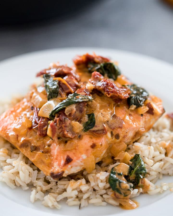 One-Pan Creamy Chipotle Salmon