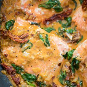 One-Pan Creamy Chipotle Salmon