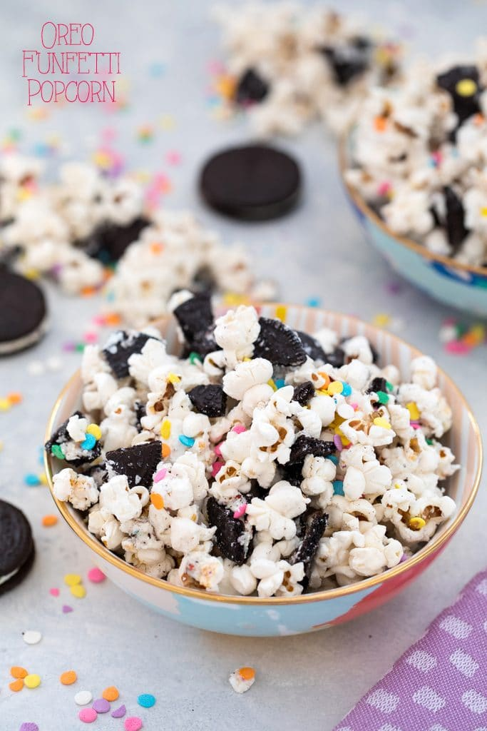 Oreo Funfetti Popcorn This Dessert Is Also Known As Birthday Cake Or
