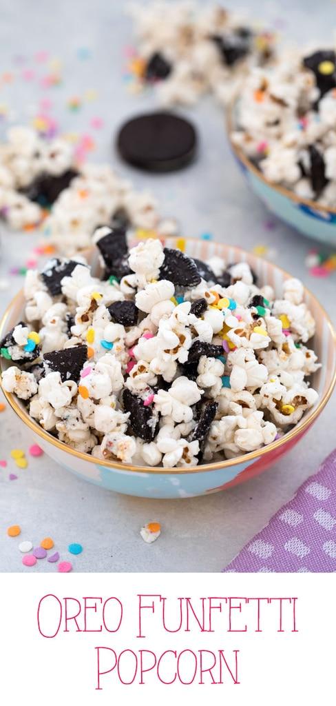 Oreo Funfetti Popcorn