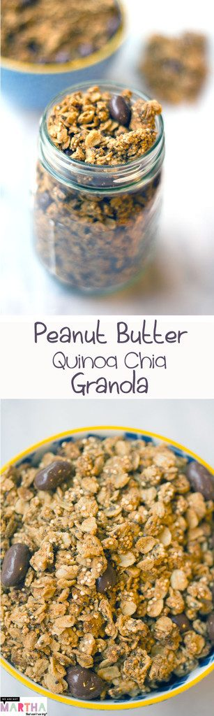Peanut Butter Quinoa Chia Granola -- A healthy and delicious homemade granola! | wearenotmartha.com