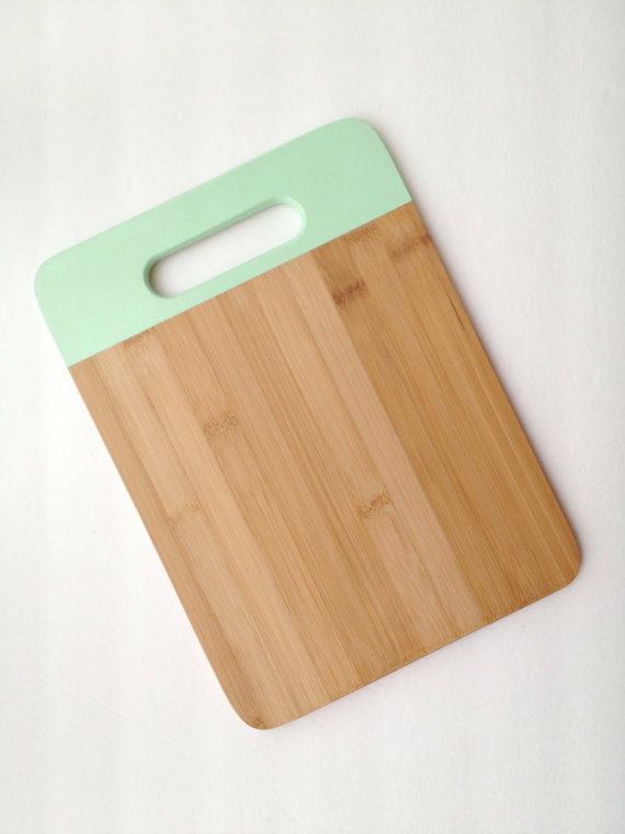 Painted Bamboo Cutting Board