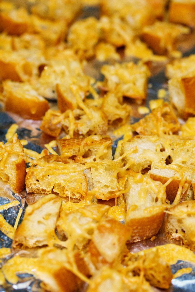 Homemade Parmesan Croutons | wearenotmartha.com