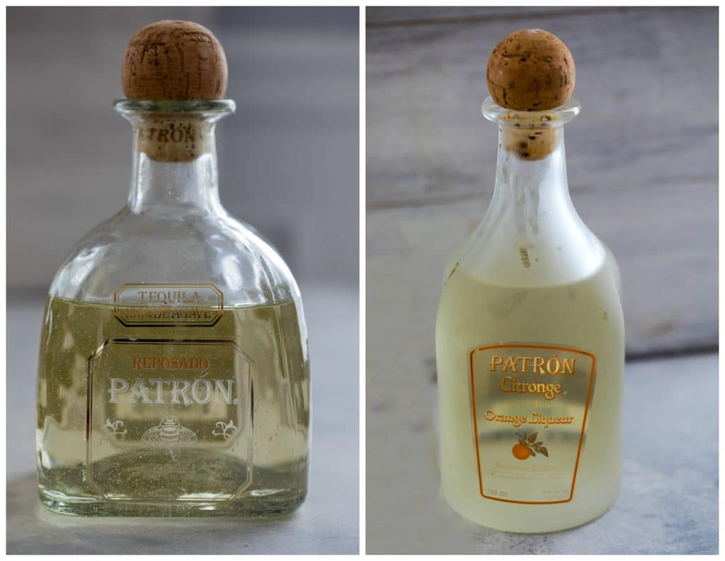 Collage showing bottles of Patrón Tequila and Patrón Citronge