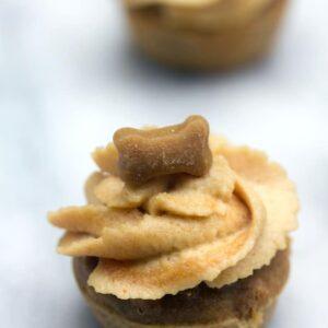 Peanut Butter Banana Pupcakes