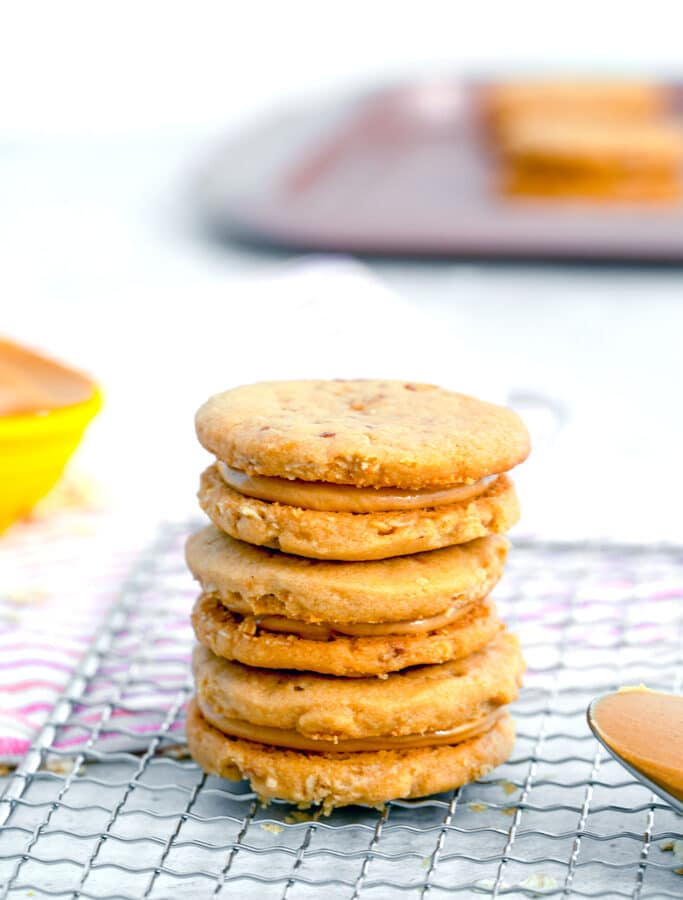 Peanut Butter Sandwich Cookies -- These Peanut Butter Sandwich Cookies are amazingly sweet and delicate and a must-make for any peanut butter lover! | wearenotmartha.com