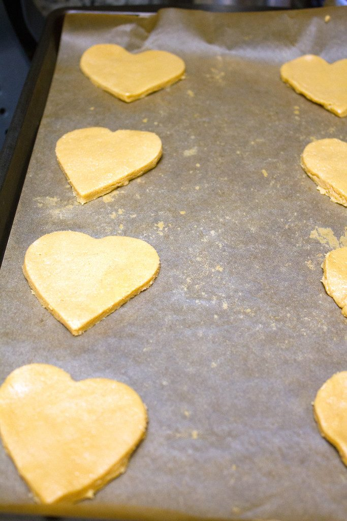 Peanut Butter Heart Cookies | wearenotmartha.com