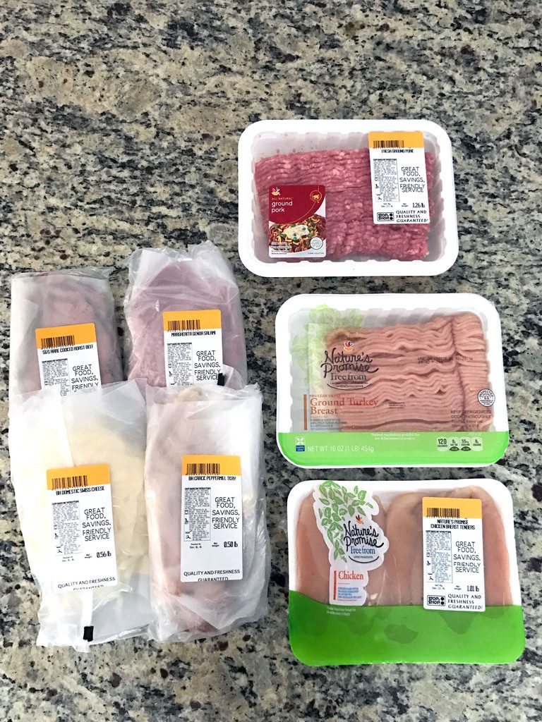 Peapod grocery delivery meat