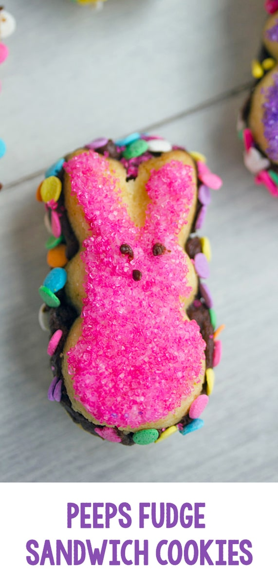Peeps Fudge Sandwich Cookies