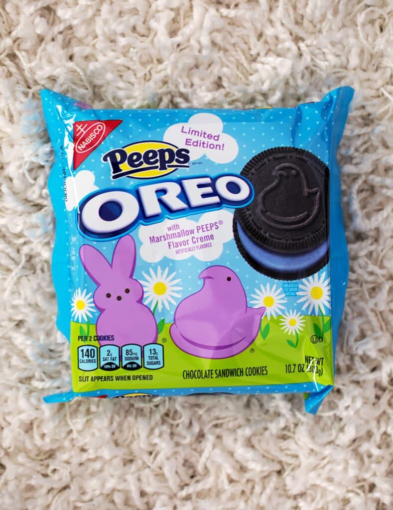 Package of Peeps Oreo Cookies