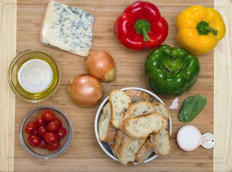 Pepper and Gorgonzola Bruschetta Ingredients.jpg