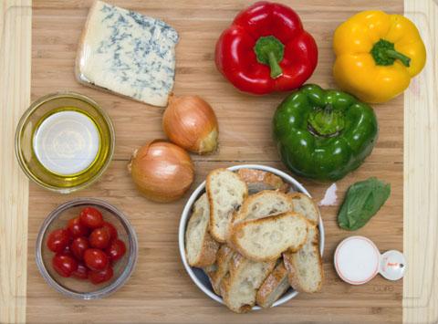Pepper and Gorgonzola Bruschetta Ingredients.jpg