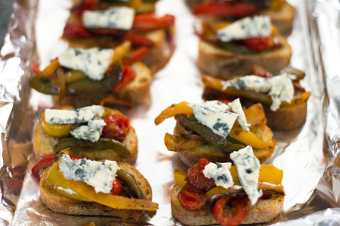 Pepper and Gorgonzola Bruschetta Oven.jpg