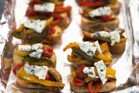 Pepper and Gorgonzola Bruschetta Oven.jpg