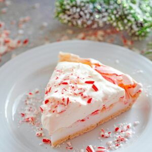 Peppermint Pavlova with White Chocolate Whipped Cream -- The underrated pavlova is an easy-to-make dessert perfect for all kinds of occasions. This version is a Peppermint Pavlova with White Chocolate Whipped Cream and will be the hit of all your holiday parties! | wearenotmartha.com