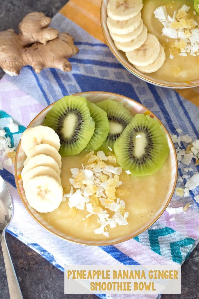 Pineapple Banana Ginger Smoothie Bowl Recipe We Are Not Martha