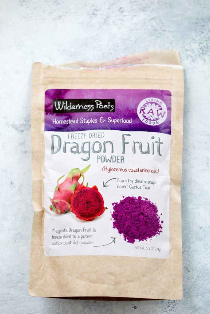Dragon fruit powder package