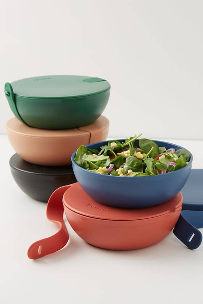 Bright colored reusable storage containers