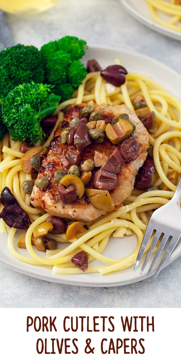 Pork Cutlets with Olives and Capers