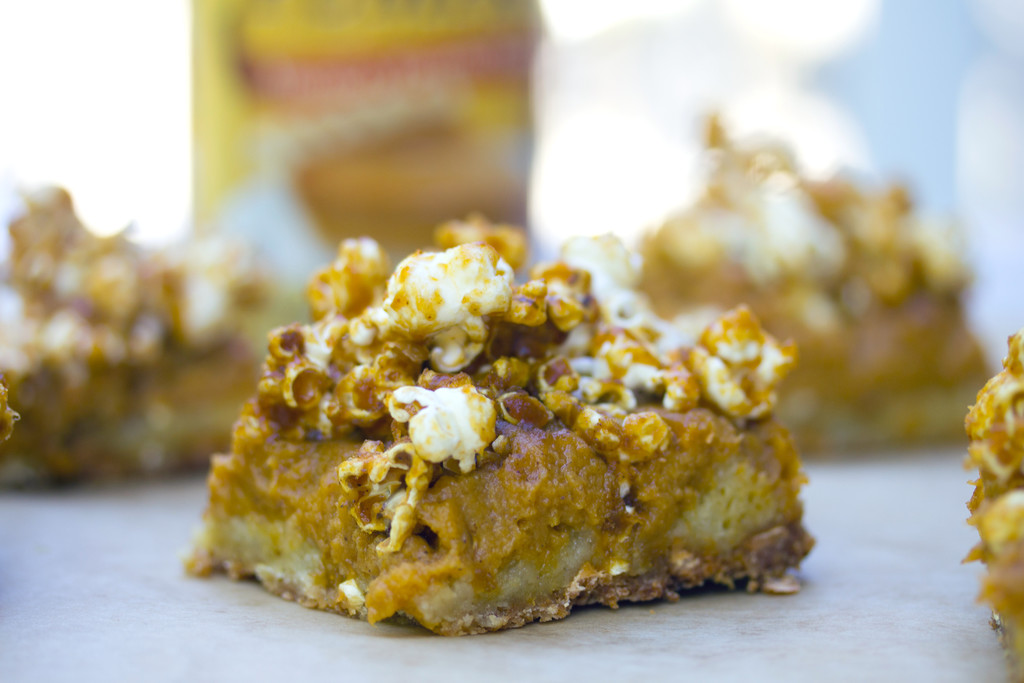 Pumpkin Butterscotch Popcorn Bars 12