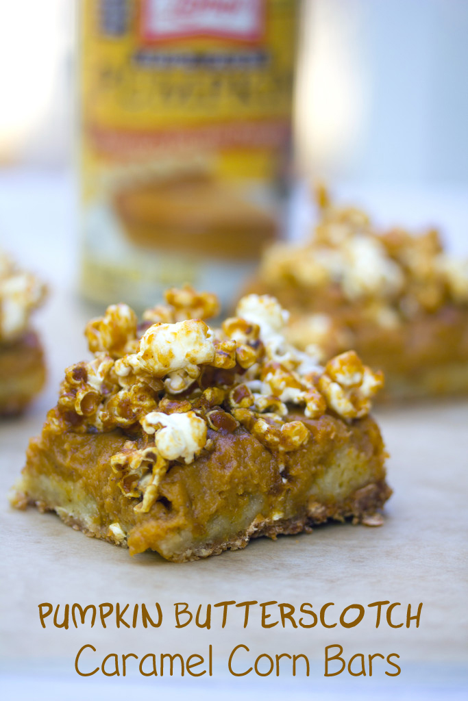 Pumpkin Butterscotch Popcorn Bars
