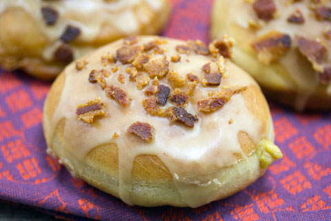 Pumpkin Doughnuts with Maple Bacon Frosting 1.jpg