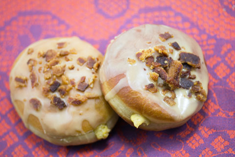 Pumpkin Doughnuts with Maple Bacon Frosting 11.jpg