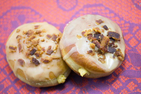 Pumpkin Doughnuts with Maple Bacon Frosting 12.jpg