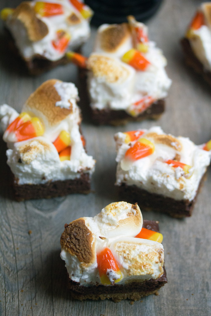 Pumpkin Kahlua Toasted Marshmallow Brownie Bars 11