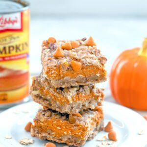 Craving pumpkin pie, but want something a bit more trendy and portable? These Pumpkin Pie Bars are an easy-to-make treat, packed with fall flavors!