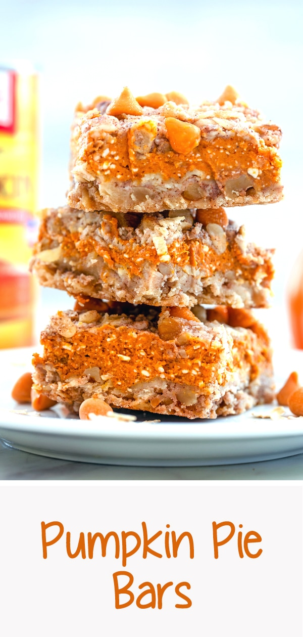 Pumpkin Pie Bars -- Craving pumpkin pie, but want something a bit more trendy and portable? These Pumpkin Pie Bars are an easy-to-make treat, packed with fall flavors   wearenotmartha.com #pumpkinpie #pumpkin #bars #fall
