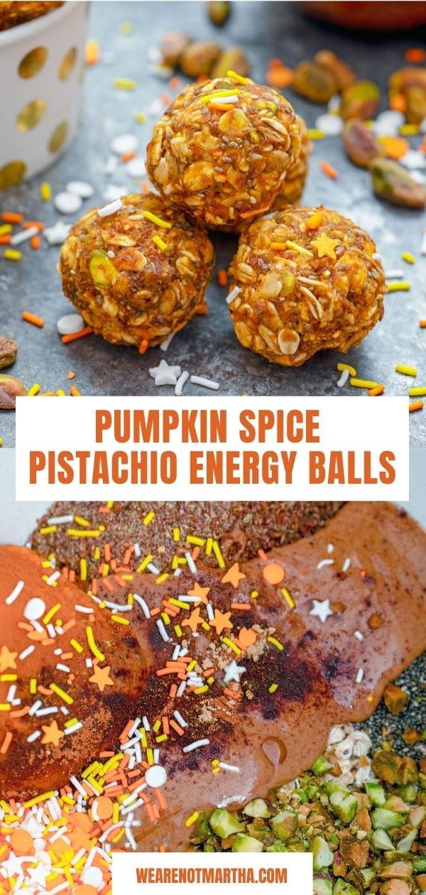 Pumpkin Spice Pistachio Energy Balls