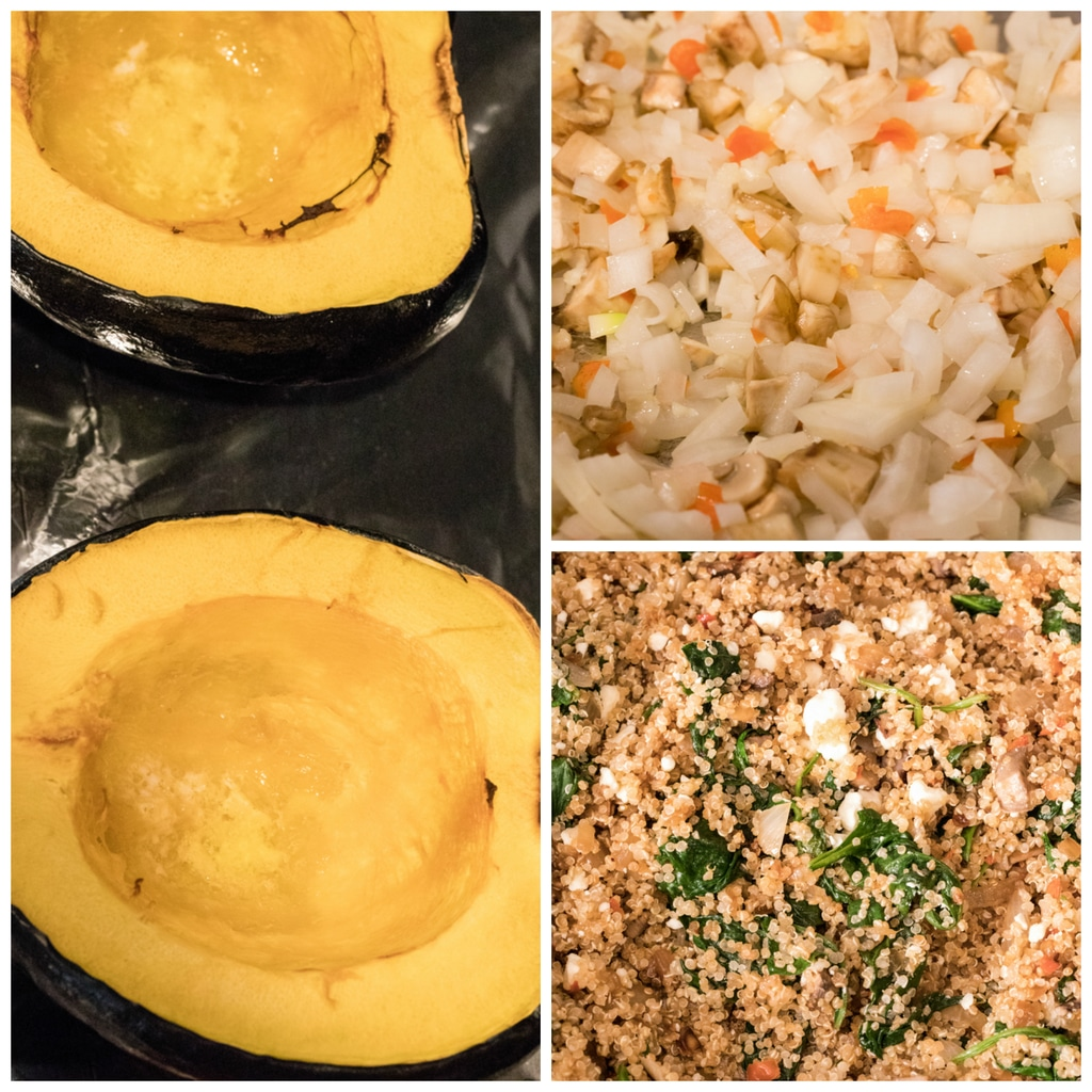 Quinoa-Stuffed Acorn Squash Making | wearenotmartha.com
