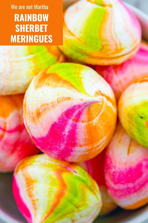 Rainbow Sherbet Meringues