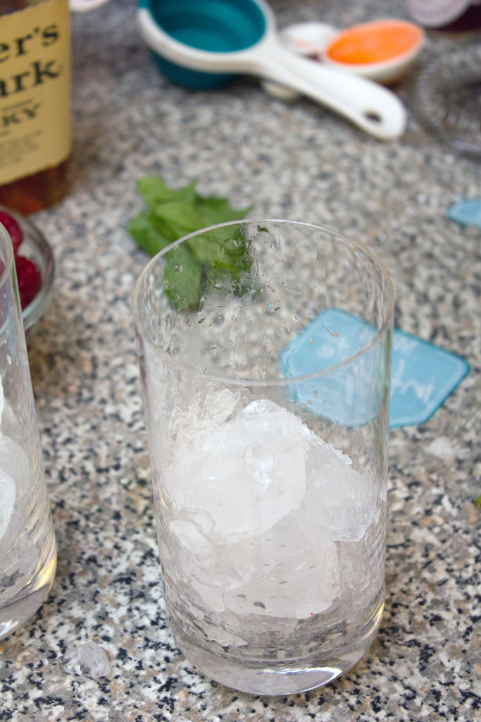 Raspberry Vanilla Whiskey Sipper Crushed Ice