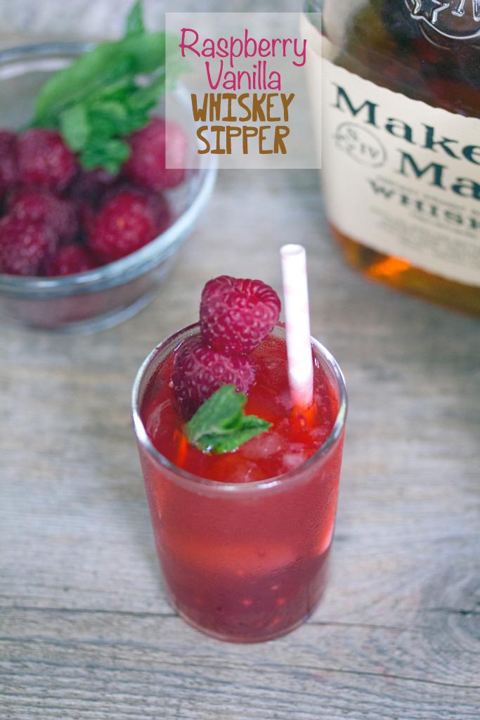 Raspberry Vanilla Whiskey Sipper