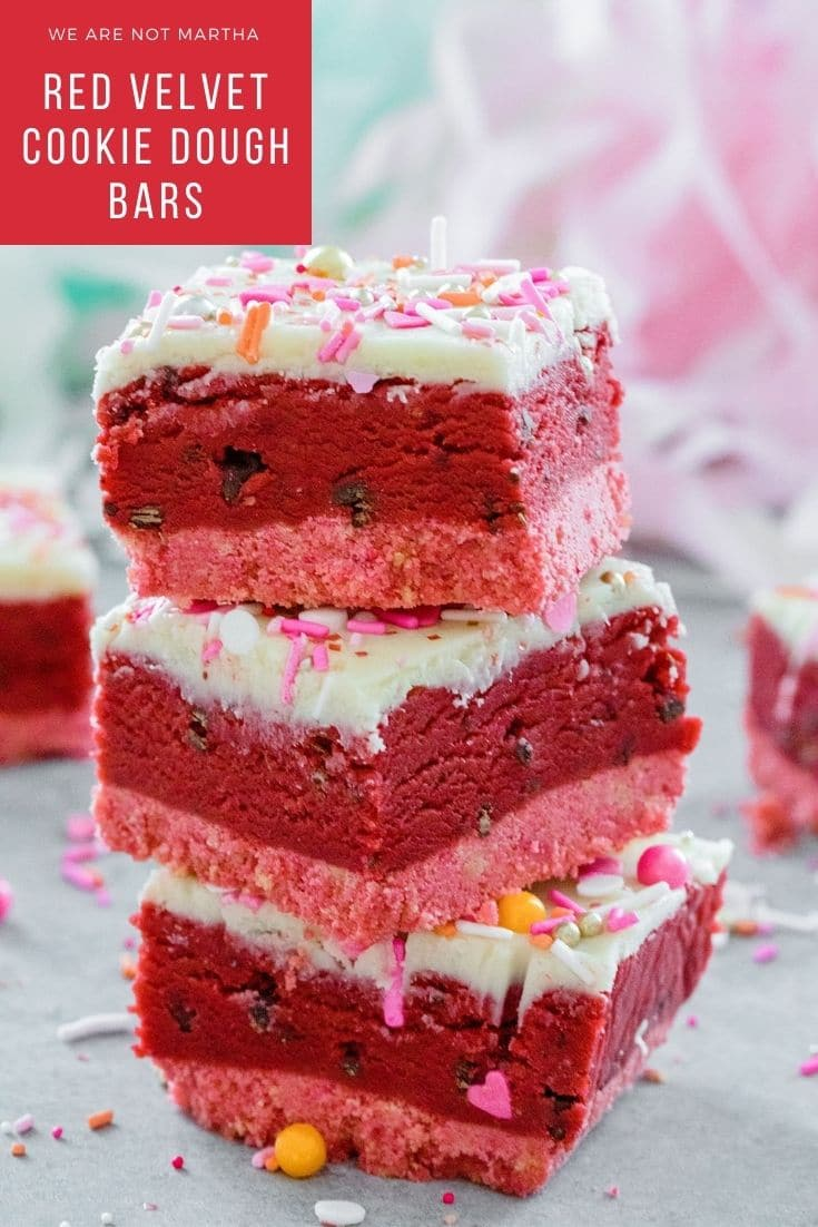 Red Velvet Cookie Dough Bars