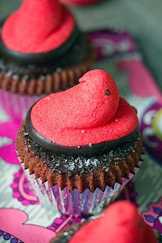 Red Velvet Marshmallow Peeps Cupcakes 5.jpg