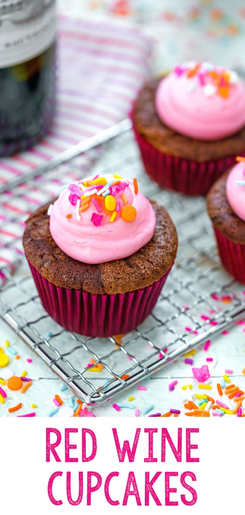 Red Wine Cupcakes with Cream Cheese Frosting