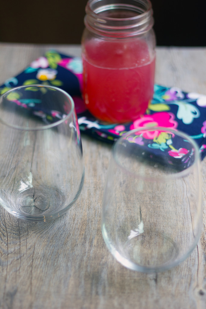 Rhubarb Syrup Glasses