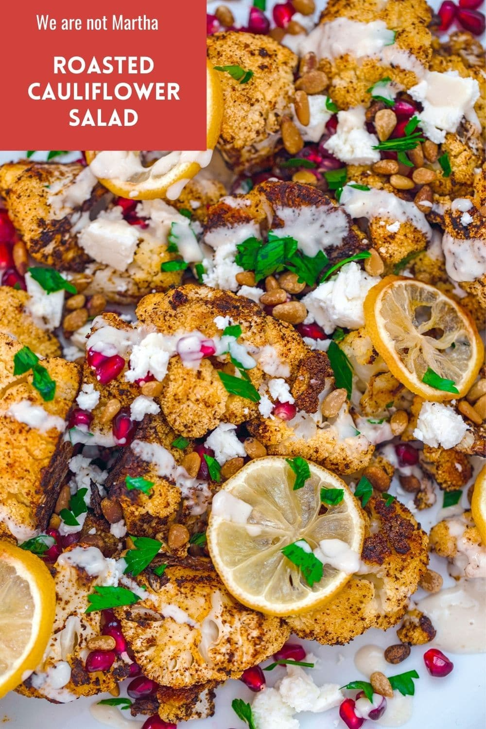 Roasted Cauliflower Salad with Lemon, Pomegranate, and Feta