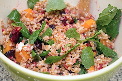 Roasted Cranberry Farro Salad with Curry Dressing Tossed.jpg