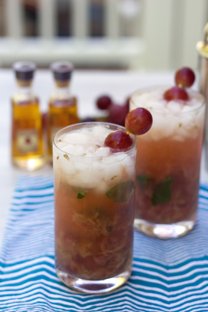 Roasted Grape Bourbon Smash 5
